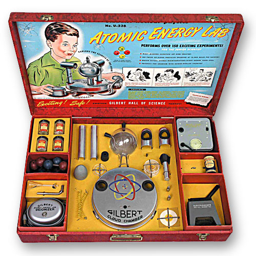 Gilbert U-238 Atomic Energy Lab, um belo Atomic Toys