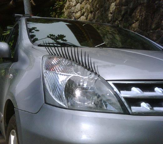 Les Cils os cílios para carros, em poucos minutos deixa seu carro mais charmoso e você vai fazer o maior sucesso